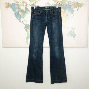 7 For All Mankind Dojo Jeans Wide Leg Flare 7FAMK